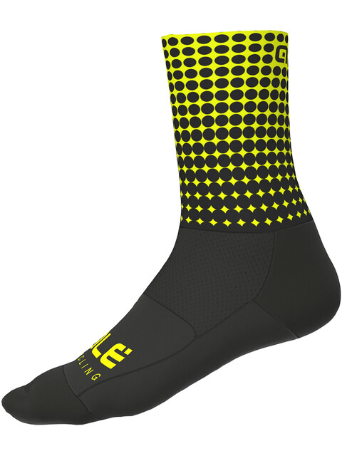 Alé Cycling Dots Socks 16cm black flou yellow